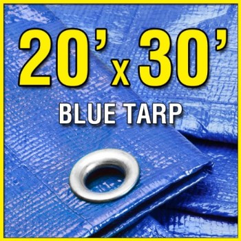 20-X-30-Large-Blue-Multi-Purpose-6-mil-Poly-Tarp-for-roofs-Trucks-RV-Cover-20x25-Waterproof-Construction-Grade-Tarpaulin-by-Grizzly-Tarps-0