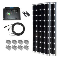 200W-Mono-Starter-Kit-2pc-100W-Solar-Panels+20-Adapter-Kit+PWM-30A-Charge-Controller+2-Sets-Z-Brackets+MC4-Branch-Connectors-Pair-0
