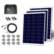 300W-Poly-Starter-Kit-3pc-100W-Solar-Panel-+30A-Charge-controller+20-Adaptor-Kit+Z-Bracket-0
