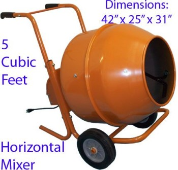 5-Cubic-Feet-Wheel-Barrow-Portable-Cement-Concrete-Mixer-0