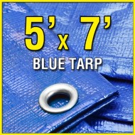 5-X-7-Blue-Multi-Purpose-6-mil-Waterproof-Poly-Tarp-Boat-Cover-5×7-Tarpaulin-for-Camping-Tent-Shelter-Shade-0