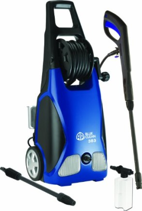 AR-Blue-Clean-AR383-1900-PSI-1.5-GPM-14-Amp-Electric-Pressure-Washer-with-Hose-Reel-0