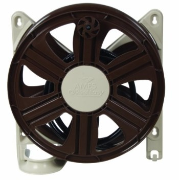 Ames-2388340-ReelEasy-Side-Mount-Hose-Reel-100-Feet-Hose-Tan-and-Brown-0