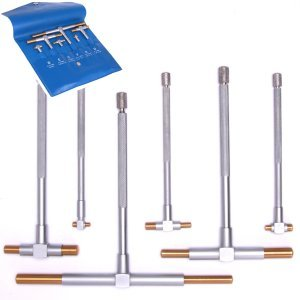 Anytime-Tools-6-pc-Titanium-Coated-TELESCOPING-T-BORE-HOLE-Precision-GAGE-GAUGE-SET-0