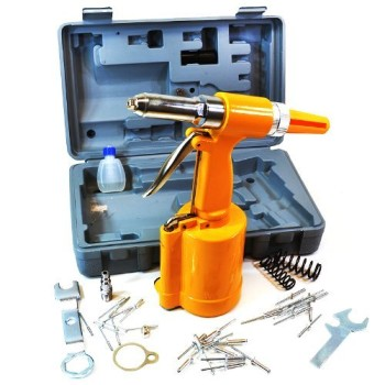 Arksen-Air-Hydraulic-Pop-Rivet-Gun-Riveter-Riveting-Tool-wCase-Pneumatic-4-Nose-Piece-316-532-18-332-0