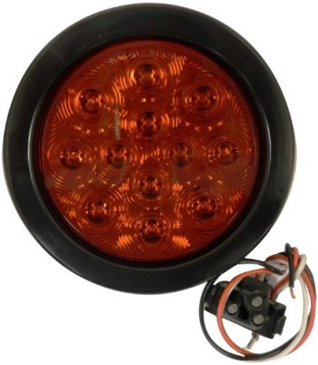AutoSmart-KL-25108RK-4-Round-LED-StopTurnTail-Light-Kit-with-Red-Lens-0