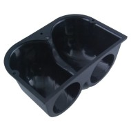 Automotive-Refitting-Mounting-Heavy-Duty-Double-Hole-Dual-Dash-Mount-Pod-Cup-Holder-Black-ABS-Plastic-for-2-52mm-Gauge-Meter-Add-On-0-1