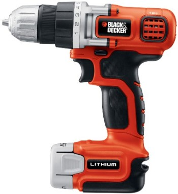Black-Decker-LDX112C-12-Volt-Max-Lithium-Ion-DrillDriver-with-1-Battery-0