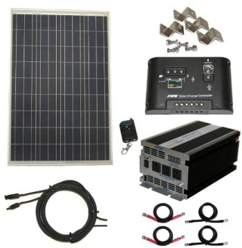 Complete-100-Watt-Solar-Panel-Kit-with-1500W-VertaMax-Power-Inverter-for-RV-Boat-Off-Grid-12-Volt-Battery-Systems-0