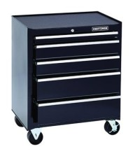 Craftsman-5-Drawer-Rolling-Bottom-Tool-Cabinet-Steel-w-Black-Finish-0