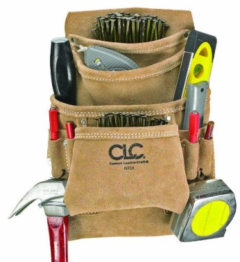 Custom-Leathercraft-I923X-Suede-Carpenters-Nail-and-Tool-Bag-10-Pocket-0