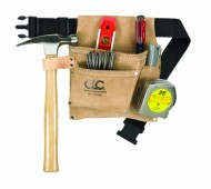 Custom-Leathercraft-IP489X-Suede-Nail-and-Tool-Bag-with-Poly-Web-Belt-3-Pocket-0