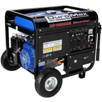 DuroMax-XP10000E-10000-Watt-16-HP-OHV-4-Cycle-Gas-Powered-Portable-Generator-With-Wheel-Kit-And-Electric-Start-0