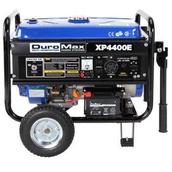 DuroMax-XP4400E-4400-Watt-7.0-HP-OHV-4-Cycle-Gas-Powered-Portable-Generator-With-Wheel-Kit-And-Electric-Start-0