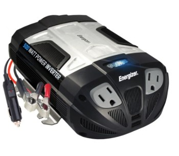 ENERGIZER-500W-Power-Inverter-12V-DC-cigarette-lighter-or-battery-clips-to-120-Volt-AC-with-2-USB-ports-2.1A-shared-compatible-with-iPad-iPhone-more-0