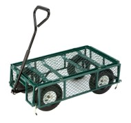 Farm-Ranch-FR110-2-Steel-Utility-Cart-with-Removable-Folding-Sides-and-10-Inch-Pneumatic-Tires-400-Pound-Capacity-34-Inches-by-18-Inches-Green-Finish-0-0