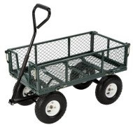 Farm-Ranch-FR110-2-Steel-Utility-Cart-with-Removable-Folding-Sides-and-10-Inch-Pneumatic-Tires-400-Pound-Capacity-34-Inches-by-18-Inches-Green-Finish-0