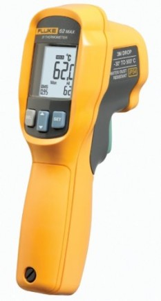 Fluke-62-MAX-Infrared-Thermometer-AA-Battery-22-to-+932-Degree-F-Range-0