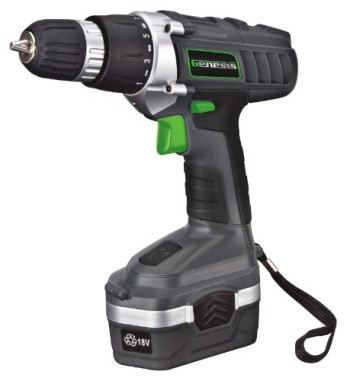 Genesis-GCD18BK-18v-Cordless-DrillDriver-Kit-Grey-0
