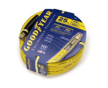 Goodyear-EP-46504-38-inch-by-25-feet-250-PSI-Rubber-Air-Hose-with-14-Inch-MNPT-Ends-and-Bend-Restrictors-0