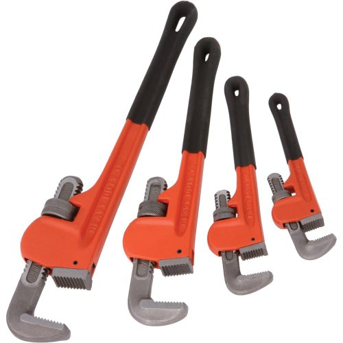Grizzly-H6271-Steelex-4-Pc.-Pipe-Wrench-Set-8-Inch-10-Inch-14-Inch-18-Inch-0