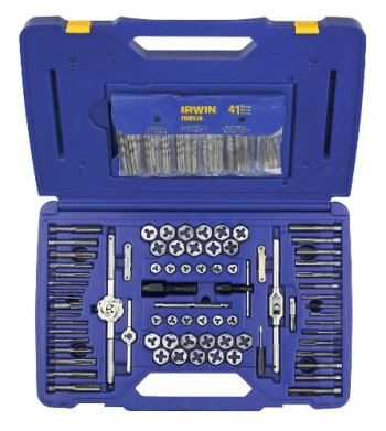 Irwin-Tools-26377-117-Piece-Machine-ScrewFractionalMetric-Tap-and-Hex-Die-Set-with-Drill-Bit-Set-0