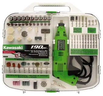Kawasaki-840589-190-Piece-Rotary-Tool-and-Accessory-Kit-0