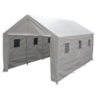King-Canopy-HC1020PCSL-10-Feet-by-20-Feet-Snow-load-Hercules-8-Leg-Canopy-Fully-Enclosed-with-Snow-Cables-White-0