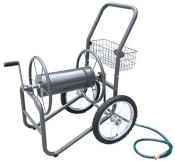 Liberty-Garden-Products-880-2-Industrial-2-Wheel-Solid-Garden-Hose-Reel-Cart-Gray-0