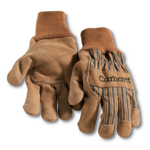 Mens-Knit-Wrist-Leather-Palm-Gloves-X-Large-Brwon-0