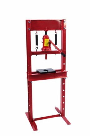New-12-Ton-Ram-Hydraulic-Floor-Shop-Press-with-Steel-Press-Plates-Ram-Carriage-0