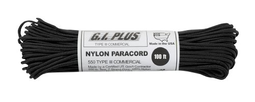 Parachute-Cord-Nylon-7-Strand-550lb-Tested-U.S-MADE-100Black-0