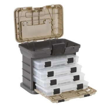 Plano-Molding-1354-Stow-N-Go-Tool-Box-with-4-23500-Series-StowAways-Graphite-Gray-and-Sandstone-0