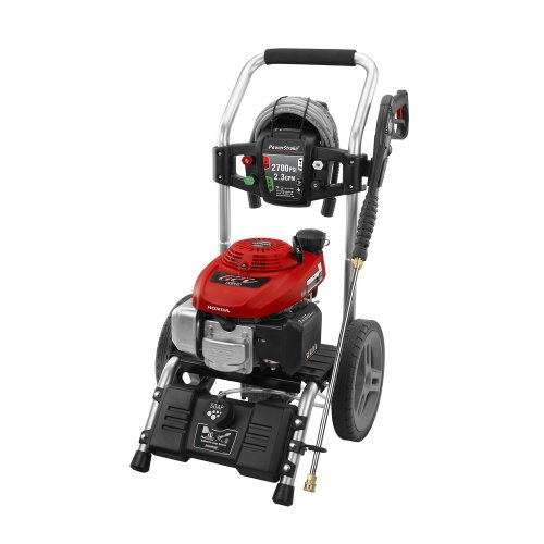 Powerstroke ps80979b 2700 psi gas pressure washer with for Power washer with honda motor