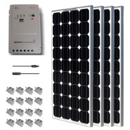 Premium-Solar-Panel-Kit-400W-4pc-100W-solar-panels+-MPPT-40Amp-charge-controller+-20-MC4-adaptor-kit-0