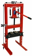 Premium-Steel-6-Ton-12000-lbs-Hydraulic-Bench-Top-Shop-Press-with-Press-Plates-0-0