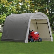 ShelterLogic-Round-Style-Storage-Shed-10-x10-x-8-Feet-Grey-0