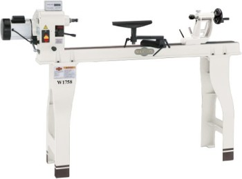 Shop-Fox-W1758-Wood-Lathe-With-Cast-Iron-Legs-And-Digital-Readout-0