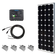 Solar-Panel-Starter-Kit-100W-Monocrystalline100W-Solar-Panel-UL-1703-Listed+2-20-Solar-cables+PWM-30A-Charge-Controller+-Uniquely-Designed-Z-Bracket-Mounts-0