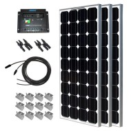 Solar-Panel-Starter-Kit-300W-Mono3pc-100W-Solar-Panel-UL-Listed+20-Solar-cable+PWM-30A-Charge-Controller+3-sets-Z-Brackets+2-Pairs-MC4-Branch-Connectors-0