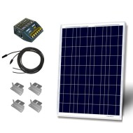 Starter-Kit-100W-100W-Solar-Panel-UL-1703-listed+-30A-PWM-Charge-Controller-+-2-20-MC4-Adapter-Cable-+-Uniquely-Designed-Z-Bracket-Mounts-0