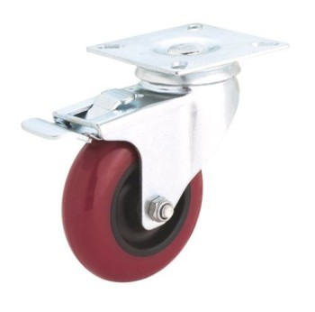 Steelex-D2610-4-Inch-275-Pound-Swivel-Double-Lock-Polyurethane-Plate-Caster-0