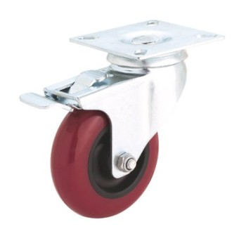 Steelex-D2612-5-Inch-300-Pound-Swivel-Double-Lock-Polyurethane-Plate-Caster-0