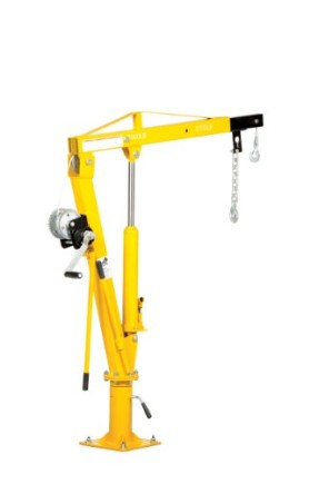 Vestil-WTJ-2-Winch-Operated-Truck-Jib-Crane-Welded-Steel-1000-lbs-Retracted-Capacity-56-Overall-Height-Yellow-0