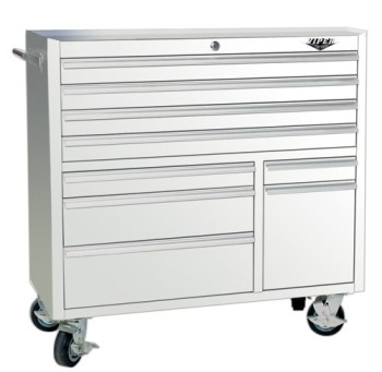 Viper-Tool-Storage-V4109WHR-41-Inch-9-Drawer-18G-Steel-Rolling-Tool-Cabinet-White-0