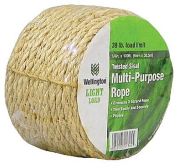 Wellington-Cordage-11345-14-Inch-X-100-Feet-Natural-Fiber-Twisted-Sisal-Strand-Rope-Twine-0