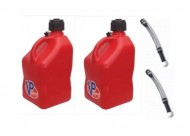 2-Pack-New-VP-5-Gallon-Red-Race-Fuel-Jugs-and-2-Deluxe-Filler-Hoses-0