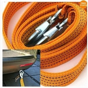 3-Tons-Car-Tow-Cable-Towing-Strap-Rope-with-Hooks-Emergency-Heavy-Duty-10-Feet-0