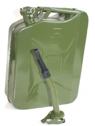 5-Gallon-Nato-Style-Jerry-Gas-Can-20l-Military-Spec-Gasoline-Jeep-Hummer-Green-w-Spout-Safety-Pin-0