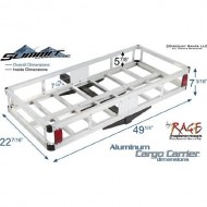 Aluminum-Hitch-Cargo-Carrier-500-lb-Capacity-with-Anti-Tilt-and-58-Hitch-Pin-0-1